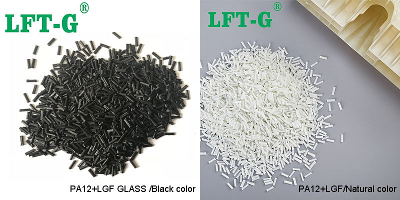 PA12 Long glass fiber black and white color customized